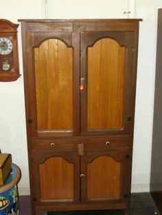 Rustic Primitive Oak Cupboard-Jelly Cabinet,Straight Front China ...