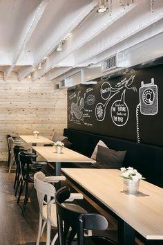 La pintura de pizarra y magnética están de moda en las cafeterías y restaurantes…