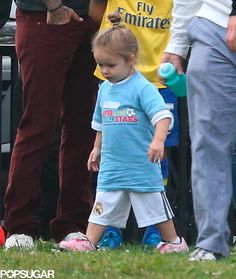 Looks like Harper Beckham got some of her dad's soccer moves!