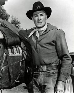 Randolph Scott as a soldier …. Old Movies, Vintage Movies, Old Yeller, Randolph Scott, Western Comics, Western Art, Old Time Radio, Movie Shots, Old Movie Stars