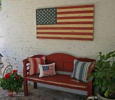 Americana Country Home Decor | ... by Childhood Farmhouse, Monterey Colonial House is all Americana