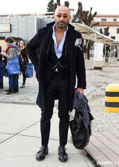 Fashion Outfits, Man Fashion, Street Fashion, Bald With Beard, Gentleman Style, Dapper, Handsome, Hipster, Street Style