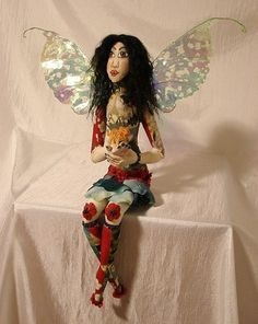 Fairy Doll with a TigerArt Doll  Made by Request by charsdolls, $135.00