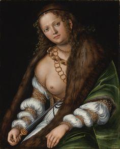 Lucrezia von Lucas Cranach - hier síeht man sehr schön die Befestigung des Brustbandes.