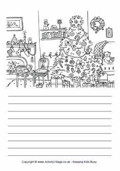 Christmas tree story paper