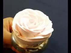 Rose Piping Tutorial. (Whipping Cream) - YouTube