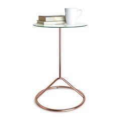 Allisha Side Table, Copper