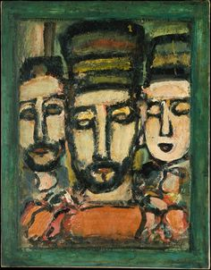 'Three Judges' (ca.1938) by Georges Rouault