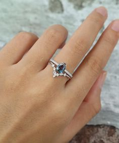 Details about  /Natural Multi Sapphire Engagement Ring Sterling Silver Flower Band US 3 to 15