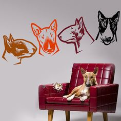 Dog Decal Bull Terrier Vinyl Sticker Decal  Good for Walls