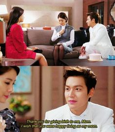 Kim Tan and Cha Eun Sang ♡ // The Happy Mother's Day. Aww Tan is so loyal towards his mother. Heirs Korean Drama, Korean Drama Quotes, The Heirs, Korean Dramas, Choi Jin Hyuk, Kang Min Hyuk, Lee Min Ho Kdrama, Lee Minh Ho, Best Kdrama