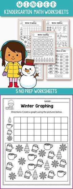 Free Winter math worksheets for kindergarten - includes some fun winter games for preschool, kindergarten or even first grade. Worksheets included: count the objects, same or different, make a pattern, comparing numbers, ten frames,skip counting, addition games, tally marks and more. #kindergarten #worksheet #free #math