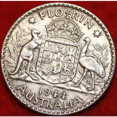 1944 Australia 1 Florin Silver Coin Very Nice! on eBid United States Rare Coins Worth Money, Valuable Coins, Australian Money, English Coins, Buy Coins, Rare Stamps, Coin Worth, Old Money, World Coins