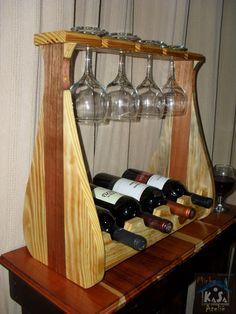 Industrial Wine Racks, Rustic Wine Racks, Wine Rack Wall, Wine Glass Holder, Home Decor Furniture, Wood Furniture, Wine Box Shelves, Wine Stand, Wine House