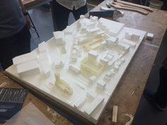Alice, Harry and Peter's Polystyrene and 3D Printed Site Model   Liverpool…