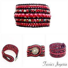 """Armband  """"Chan Luu"""" Style ROT von Tessie's  Schmuck & Deko auf DaWanda.com"""