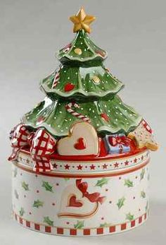 Villeroy & Boch WINTER BAKERY DELIGHT Christmas Tree Figurine Cookie Jar 9673158