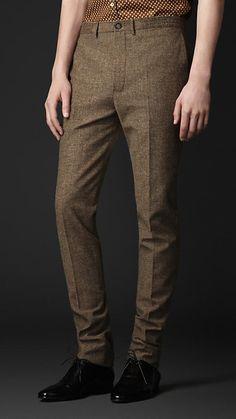 Slim Fit Tweed Trousers | Burberry