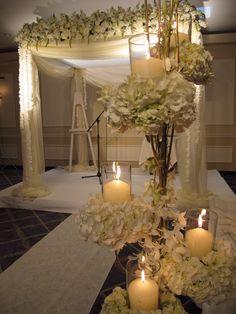Elegant indoor reception floral decor~ Amaryllis Event Decor Northvale, New Jersey