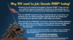 Take control of your health, get involved with Genesis PURE™ today!