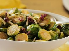 Brussels Sprouts with Dried Cranberries and Almonds recipe from Trisha Yearwood via Food Network