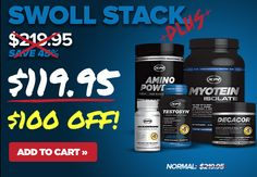 Looking for the perfect stack to get swoll?  We got you covered with $100 OFF! Click here: https://secure.xpisupplements.com/secure-checkout/?merchantID=XPI2&themeCode=XPI2&add=SwollStack-1&utm_source=emailteam&utm_medium=email&utm_content=blast&utm_campaign=SWOLLSTACK&clearcoupons=true&campaign=SWOLLSTACK&coupon=SWOLLSTACK20