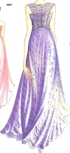 Did You Really Sew That?: Long Evening Gown Marfy 2867-- excellent tutorial that will help with dress construction!