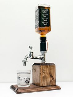 Handmade Wooden Alcohol Dispenser / Whiskey dispenser / Liquor dispenser