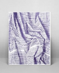 Lined Fabric Risograph Poster by CemsGems on Etsy: