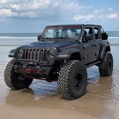Your Favorite Jeep on beach Jeep Wrangler Rubicon, Jeep Suv, Jeep Truck, Jeep Carros, Badass Jeep, Offroader, Custom Jeep, Cool Jeeps, Jeep Accessories