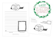 Dearest Santa at the North Pole - Printable Letter to Santa