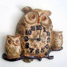 Vintage Owl Wall Clock