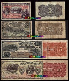 chile currency | Chile banknotes - Chile paper money catalog and Chilean currency ...