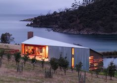 Shearers Quarters designed by John Wardle Architects on a sheep farm on North Bruny Island in Tasmania, Australia