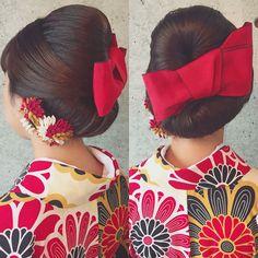 おっきな赤いリボンが可愛い♡『ハイカラさん』風大正ロマンな和モダン髪型特集* | marry[マリー]