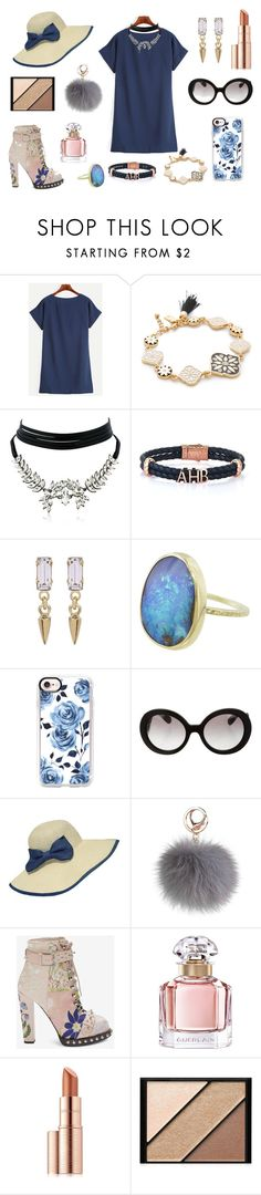 """""""Saturday Flowers"""" by comeasyouare19 ❤ liked on Polyvore featuring Kate Spade, WithChic, Bing Bang, Casetify, Prada, Guerlain, Estée Lauder and Elizabeth Arden"""
