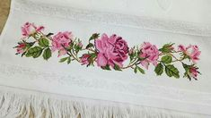 Stability Ball Exercises, Rico Design, Rose Bouquet, Cross Stitch, Painting, Cross Stitch Flowers, Cross Stitch Patterns, Embroidered Towels, Bath Linens