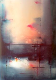 Aitor Renteria (b. Bilbao, Spain) - Estructura Surbanas, 2013 #watercolor