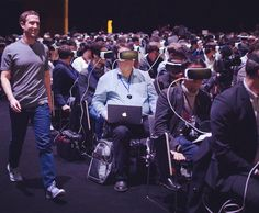 An awesome Virtual Reality pic!  Zuckerberg compareceu hoje no Mobile World Congress maior evento sobre tendências mobile do mundo que acontece em Barcelona. Com um discurso focado em realidade virtual Mark enfatizou a tecnologia de vídeos em 360 implementada no Facebook e sobre a chegada do dispositivo Oculus VR ao varejo.  Todo o auditório assistiu ao discurso de Zuck utilizando a tecnologia.  Alguma dúvida que o mercado mobile vai revolucionar mais uma vez? Esteja preparado para ser…