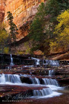 Archangel Falls, Zion National Park, Utah; photo by Phillip Noll (Raven Mountain Images)