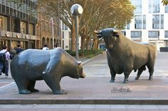 Bear and bull, Frankfurt Stock Exchange
