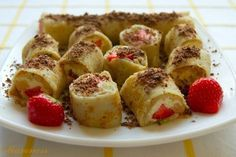 Delicious and light, sweet rolls with cottage cheese and fruit filling
