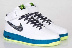 "Nike Air Force 1 Mid ""Green Abyss & Volt"""
