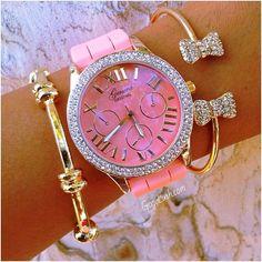 beautiful pink clock