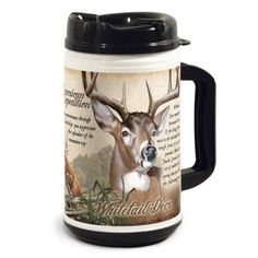 Wildlife Series 32oz. Plastic Thermal Mugs are perfect for accompanying the modern day explorer on any outdoor adventure. The double-walled construction and spill-proof lid helps keep hot beverages hot, and cold beverages cold while working or playing outdoors.
