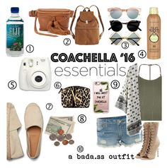 """Top 1O Coachella Essentials"" by mrsstyles53 ❤ liked on Polyvore featuring Rebecca Minkoff, Sun Bum, Retrò, BAGGU, Le Specs, Topshop, True Religion, WithChic, Balmain and Casetify"