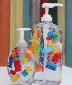 Find the best Lego Party Decorations! Do you need decorations ideas for your lego party? Here are some cool lego party decoration ideas. Diy Lego, Lego Craft, Minecraft Crafts, Minecraft Party, Minecraft Skins, Bathroom Soap Dispenser, Soap Dispensers, Bathroom Kids, Kids Bath