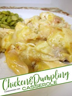 Chicken & Dumpling Casserole Recipe without biscuits- use rotisserie chicken for a simple weeknight meal. Can also use leftover holiday turkey. Guaranteed to have your kids asking for seconds! Chicken Dumpling Casserole, Chicken And Dumplings, Easy Casserole Recipes, Casserole Dishes, Ravioli, Leftovers Recipes, Dinner Recipes, Plain Chicken Recipe, Soup Appetizers
