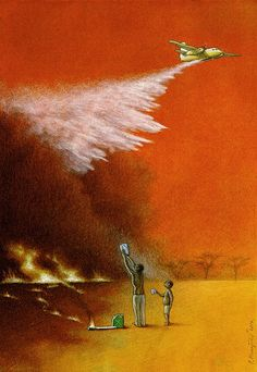 10 New Pawel Kuczynski Illustrations on Facebook, War, and Social Issues