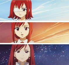 Erza. I liked learning the story of her artificial eye and how it couldn't cry tears...until after the Tower of Heaven was destroyed.